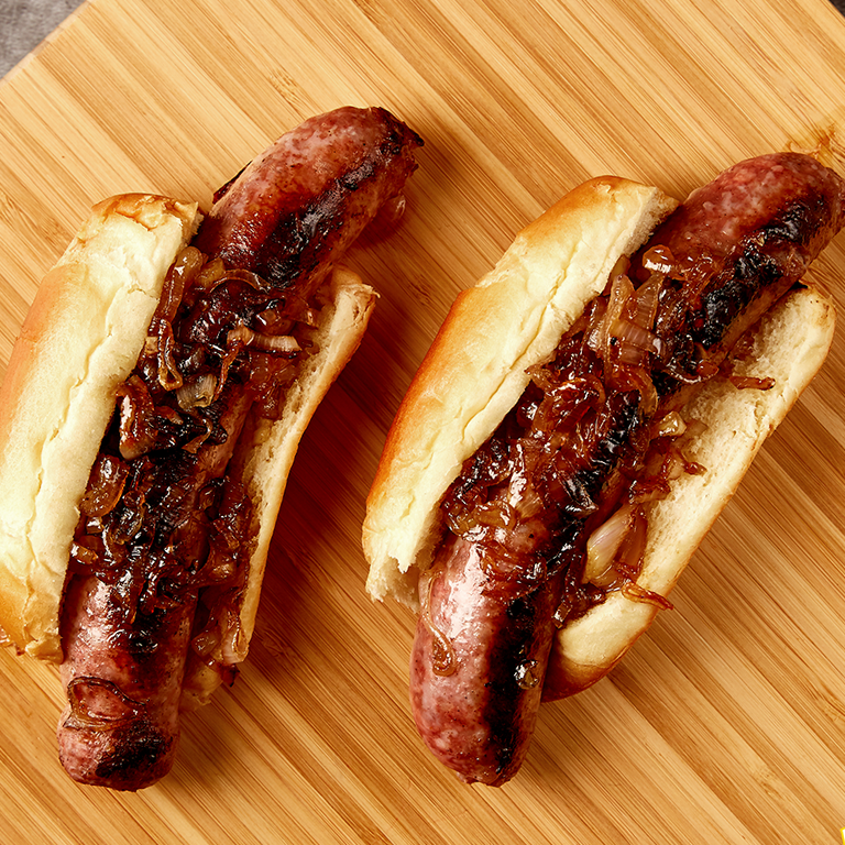 Cider-Glazed Hot Dogs
