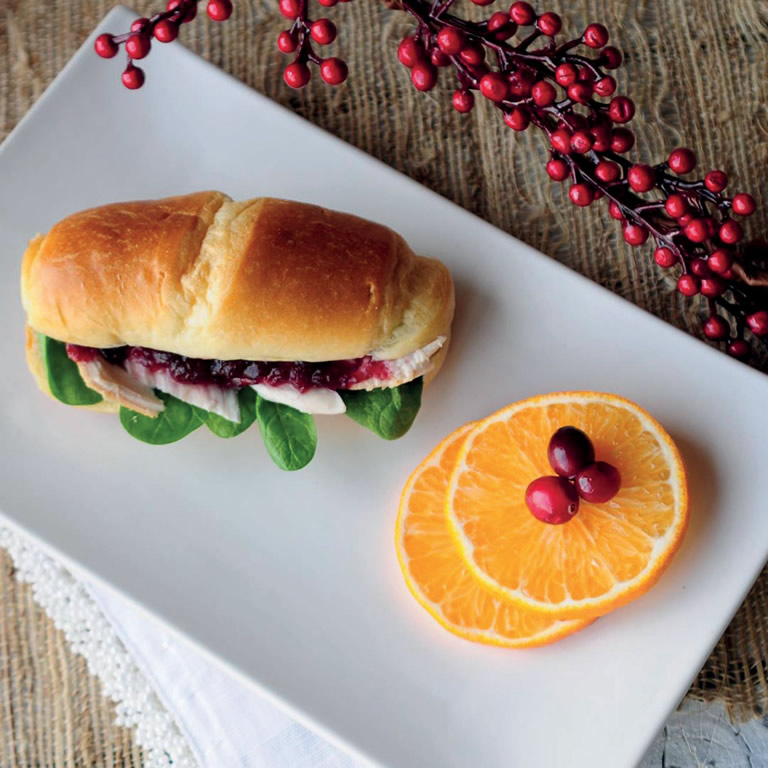 Brie and Cranberry Sandwich