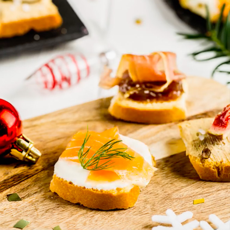 Mini toasts de noël